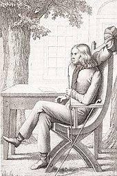 Chamisso, Pfeife rauchend (Zeichnung von F.C. Weiß) (Quelle: Wikimedia)