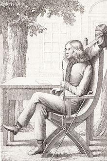 Chamisso, Pfeife rauchend (Zeichnung von F. C. Weiß) (Quelle: Wikimedia)