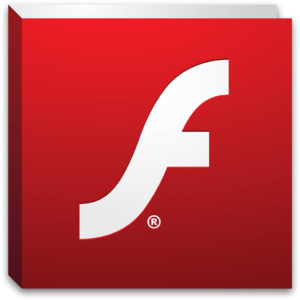 Dit is het logo van Adobe Flash Player
