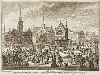 Adriaen van Nieulandt - Copper Monday in Amsterdam.