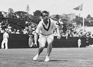 Adrian Quist - Adrian Quist hitting a low volley in the 1930s