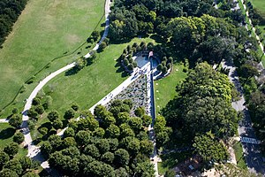 Korean War Veterans Memorial - Aerial view of the Korean War Veterans Memorial