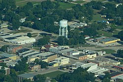 Aerial view of Osage City (2013)