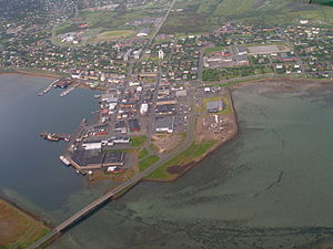 Vadsø - View of the town of Vadsø