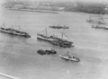 Aerial view of ships in the harbour of Brest, France, in 1918-1919 (NH 42571).png