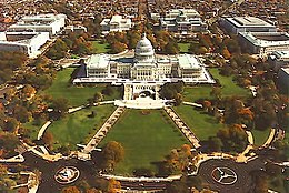 Aerial view of the Capitol Hill., From WikimediaPhotos
