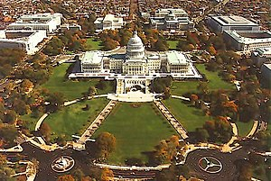 Overhead view of the Capitol Hill.