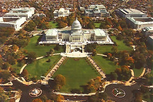 Aerial view of the Capitol Hill