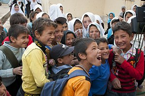 Hazaras - Ethnic Hazara school children in Bamyan, 2012