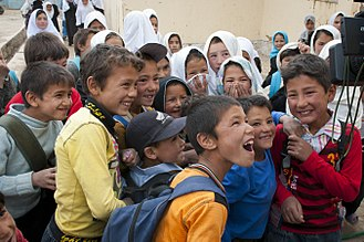 Hazaras - Hazara school children in Bamyan, 2012