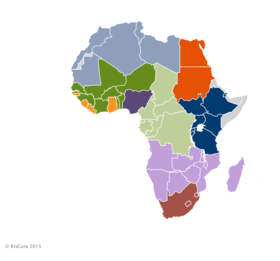 Numbered Map Of Africa.List Of Regions Of Africa Wikipedia