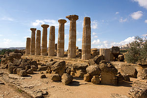 Temple of Heracles, Agrigento - Image: Agrigente 2008 IMG 1935