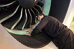 AirBaltic Bombardier CS300 mainenance (32377207274).jpg