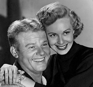 Randy Stuart - Stuart with Alan Hale, Jr. in Biff Baker, U.S.A., 1952.