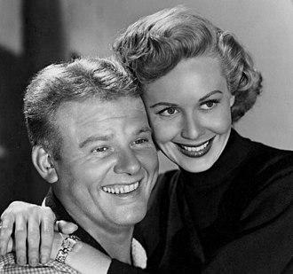 Randy Stuart - Stuart with Alan Hale Jr., in Biff Baker, U.S.A., 1952.