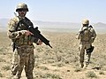 Albanian special operations forces, provide security as Afghan Border Police (ABP) break ground on a new checkpoint in the district of Spin Boldak, Kandahar province, Afghanistan, March 25, 2013 130325-A-MX357-127.jpg