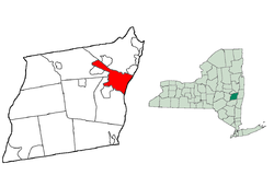Location in Albany County and the State of New York