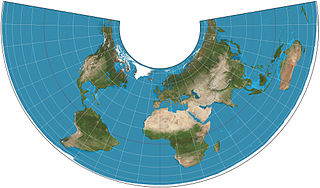 Albers projection map projection