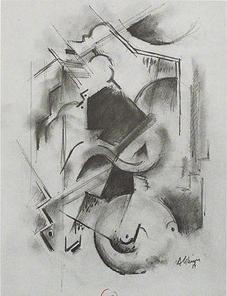 """Composition for """"Jazz"""" - Image: Albert Gleizes, 1914 15, Portrait de Florent Schmitt (Le Pianiste), pastel, 36 x 27 cm"""