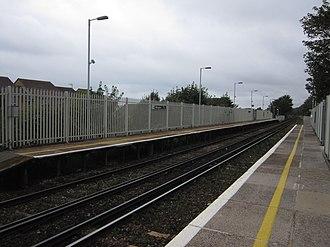 Aldrington railway station - Westward view from the eastbound platform at Aldrington