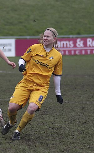 Alicia Ferguson - Ferguson playing for Millwall Lionesses in 2013