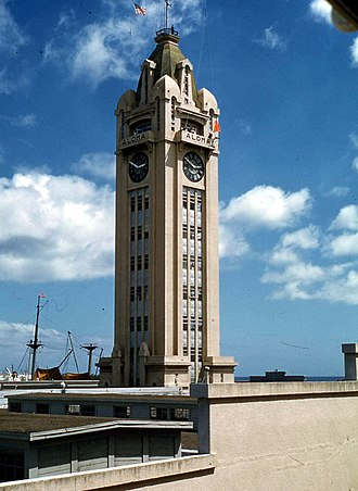 Ironman Triathlon - Aloha Tower was the original bike-to-run transition site