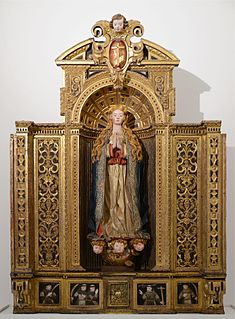 Reredos altarpiece, or a screen or decoration behind the altar in a church