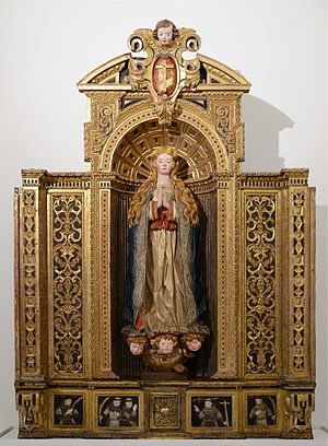 Reredos - Reredos depicting the Immaculate Conception. Portuguese, 17th century. Santarém, Portugal