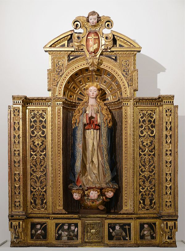 Reredos depicting the Immaculate Conception. Portuguese, 17th century. Santarém, Portugal