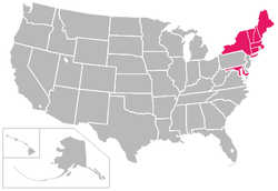 America East Conference locations