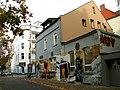 Am Kleinen Felde, Hannover Nordstadt, Gebäude Asternstraße 15, statt Zille noch unfertiges Graffiti des Künstlers Gero Bittkoven für die Bar Zensurfrei.jpg