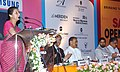 Ambika Soni addressing at the 13th Annual South Asia Travel & Tourism Exchange (SATTE) Buyer Seller Meet, in New Delhi. The Minister of State (Independent Charge) for Civil Aviation.jpg