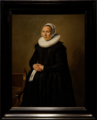Amsterdam - Rijksmuseum 1885 - Gallery of Honour (1st Floor) - Portrait of Feyntje van Steenkiste c. 1635 by Frans Hals.png