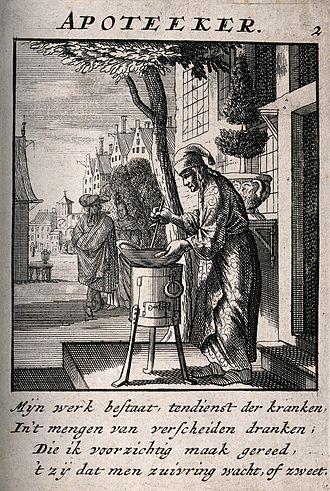 Concoction - An apothecary making a concoction
