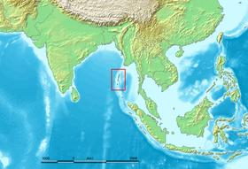 Localisation des îles Andaman