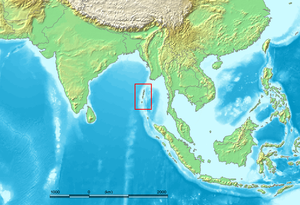 Andaman Islands - Location of the Andaman Islands.