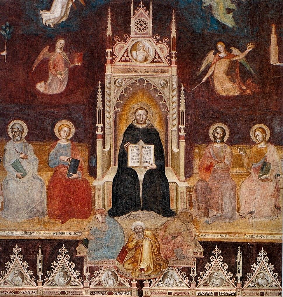 Andrea di Bonaiuto. Santa Maria Novella 1366-7 fresco 0001
