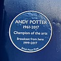 Andy Potter, Blue Plaque.jpg