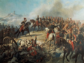 Ange-Louis Janet - Napoléon III et sa maison militaire à la bataille de Solférino, 24 juin 1859.png