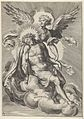 Angel supporting Christ, who is also resting on clouds MET DP836945.jpg