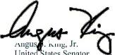 Angus King's signature