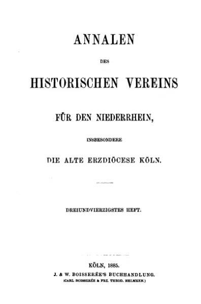 File:Annalen des Historischen Vereins für den Niederrhein 43 (1885).djvu