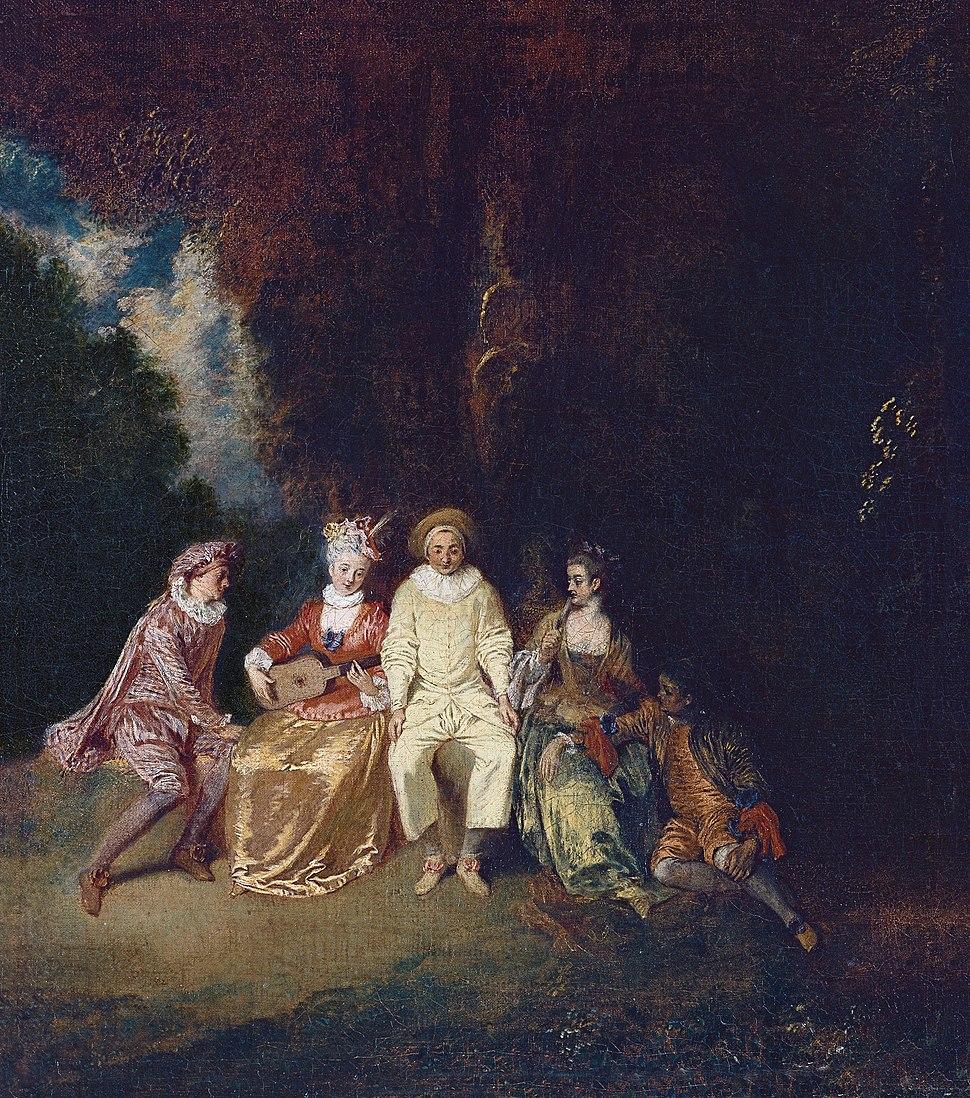Antoine Watteau - Pierrot Content - WGA25440