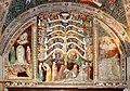 Antonio vite e collaboratore, arbor vitae, trasfigurazione e miracolo della madonna della neve, 1390-1400 ca. 01.jpg