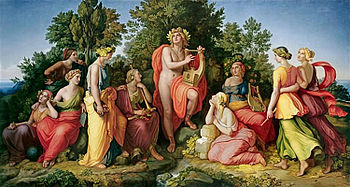 Las musas... 350px-Apollo_and_the_Muses_by_Heinrich_Maria_von_Hess