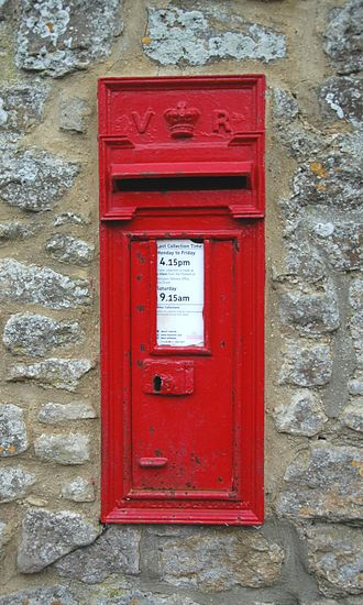 Appleton, Oxfordshire - Victorian wall box in Netherton Road