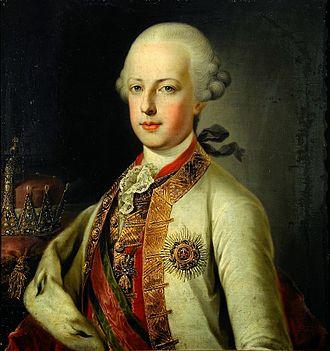 Ferdinand Karl, Archduke of Austria-Este - Portrait by August Friedrich Oelenhainz, 1790