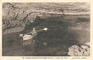 Caves of Arcy-sur-Cure - Lake in the Fairies cave - old postcard