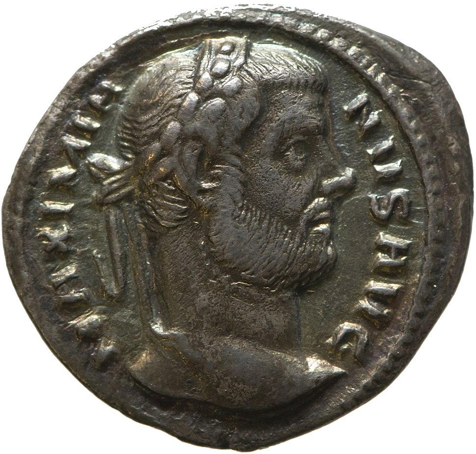 Argenteus of Maximian (YORYM 2001 797) obverse