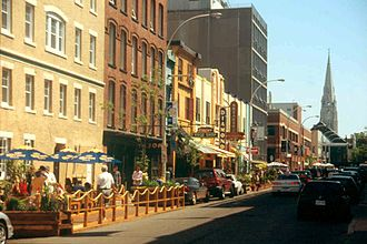 Argyle Street (Halifax) - Bars and restaurants on Argyle Street, before the streetscaping project